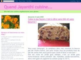 Quand Jayanthi cuisine