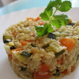 rapide à cuisiner  Boulgour aux petits légumes  cuisine végétarienne