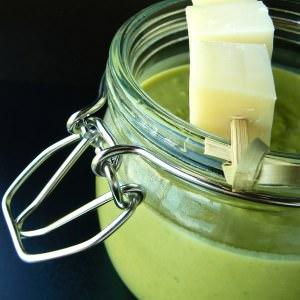 facile à cuisiner Soupe de petits pois & brochette au reblochon de Marc... recette
