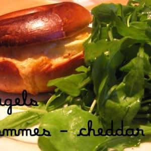 simple à préparer Bagel Pommes-Cheddar recette