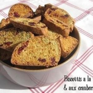 facile à cuisiner Biscottis à la vanille et aux cranberries préparation