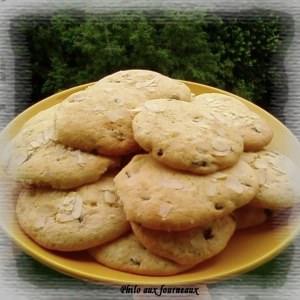 simple à cuisiner Biscuits aux raisins & amandes effilées préparation