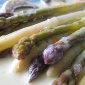 rapide à cuisiner Blanquette d'asperges à l'orange préparer la recette