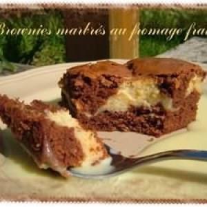 facile à cuisiner Brownie marbré au fromage frais préparation