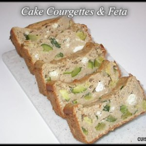 facile à cuisiner Cake Courgettes & Feta cuisiner la recette