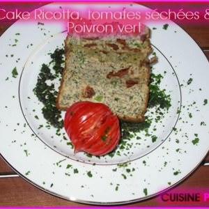 rapide à cuisiner Cake Ricotta, tomates séchées & Poivrons cuisine végétarienne