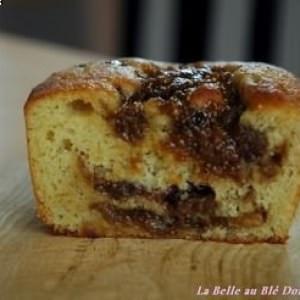 rapide à cuisiner Cake à la banane, coeur de figues préparer la recette