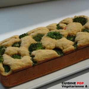 simple à préparer Cake au brocoli recette végétarienne