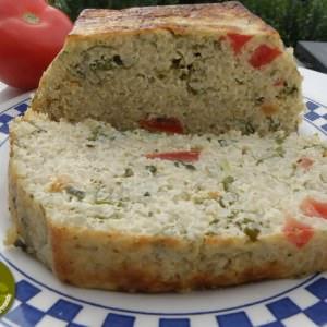 simple à préparer Cake au quinoa et à la roquette recette
