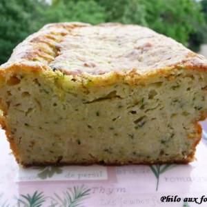 simple à cuisiner Cake aux courgettes et au parmesan préparation