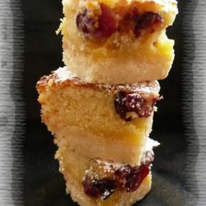 rapide à cuisiner Carrés au citron, aux amandes & aux cranberries recette de