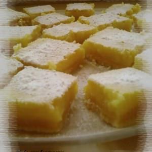 rapide à cuisiner Carrés au citron cuisine végétarienne