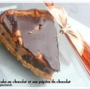 simple à cuisiner Cheesecake au chocolat & pépites de chocolat recette végétarienne