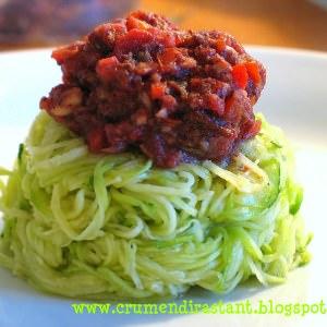 rapide à cuisiner Salade de courgettes à la tomate  préparer la recette