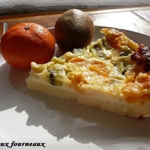 facile Clafoutis aux kiwis & aux clémentines recette de