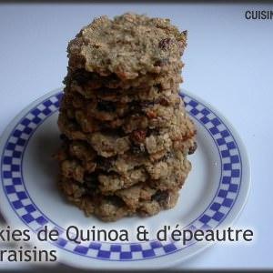 simple à cuisiner Cookies Quinoa-Epeautre aux raisins préparer la recette