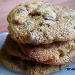 simple à préparer Cookies à la semoule de maïs et raisins secs recette végétarienne