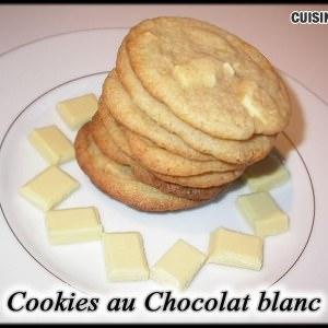 simple à préparer Cookies au Chocolat blanc préparation