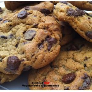 rapide Cookies au éclats de Chocolat recette végétarienne
