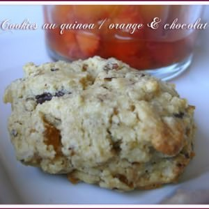 simple à préparer Cookies au quinoa, Orange & Chocolat recette de