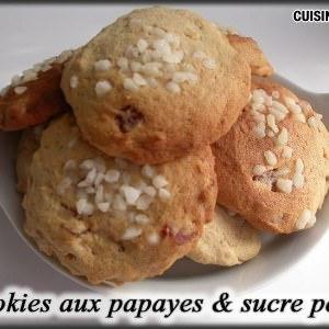 rapide Cookies aux papayes & sucre perlé préparation