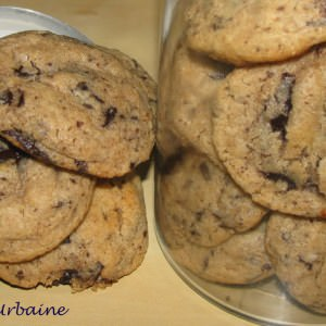 facile Cookies moelleux à la châtaigne et au chocolat préparation