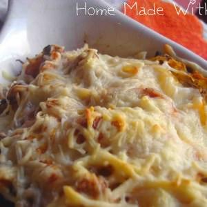 facile à cuisiner Courge spaghetti gratinée à la bolognaise préparer la recette