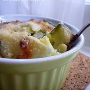 simple à préparer Courgettes gratinées à la ricotta et au parmesan recette végétarienne
