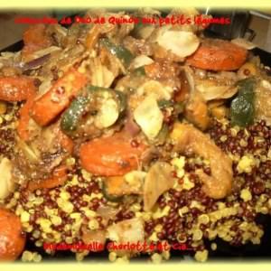 facile à cuisiner Couscous de quinoa aux petits légumes cuisiner la recette