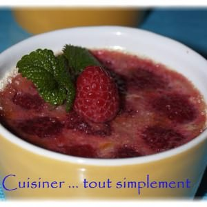 rapide à cuisiner Crème aux Framboises recette