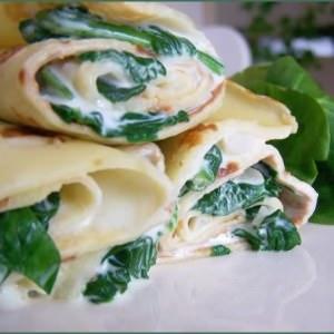 facile Crêpes aux épinards & fromage frais recette de