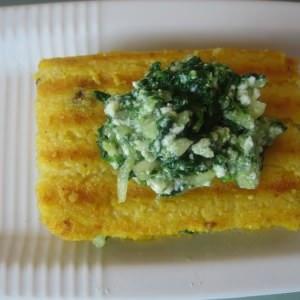 facile Croque-monsieur de polenta préparation