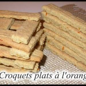 facile Croquets plats à l'orange cuisiner la recette