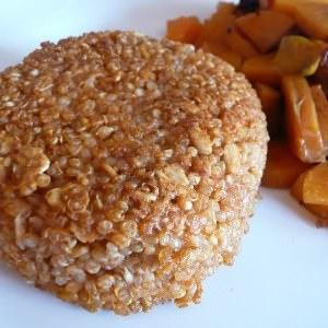 facile à cuisiner Croustillant au quinoa et carottes sautées recette