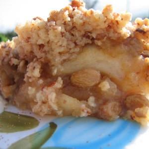 rapide à cuisiner Crumble aux pommes et aux dattes Medjool cuisiner la recette