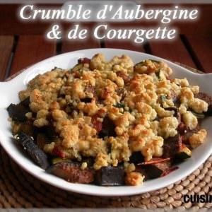 simple à préparer Crumble d'aubergine et de courgette cuisine végétarienne