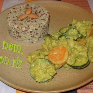 simple à cuisiner Curry de légumes à l'amande et à la fève tonka cuisiner la recette