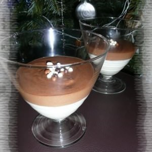 simple à préparer Duo de mousses au Toblerone et au chocolat blanc recette de