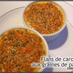 facile à cuisiner Flans de carotte aux graines de pavot cuisiner la recette