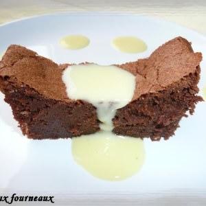 facile à cuisiner Fondant à la crème de marrons et au chocolat recette végétarienne