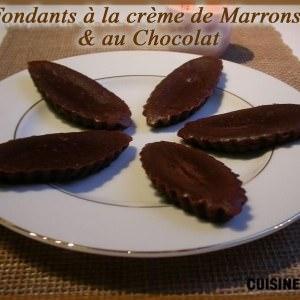 rapide Fondants à la crème de marrons et au chocolat recette végétarienne