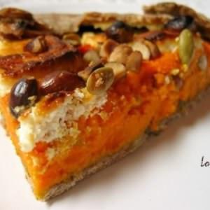 simple à cuisiner Galette carottes & chèvre à l'estragon et aux noisettes cuisine végétarienne