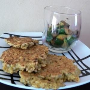 facile Galettes de céréales au lait de coco et curry recette végétarienne