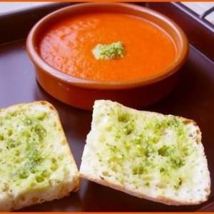 facile à cuisiner Gaspacho au pesto de pistache préparation