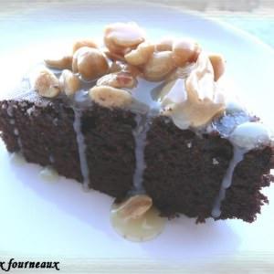 simple à cuisiner Brownies au caramel & aux cacahuètes préparation