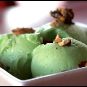 facile Glace végétalienne au pandan et cacahuètes... préparation
