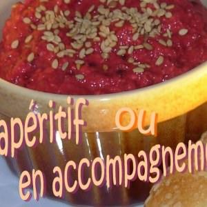 simple à préparer Houmous de betterave au cumin recette
