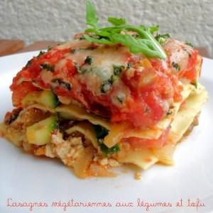 rapide à cuisiner Lasagnes Végétariennes aux Légumes & Tofu cuisine végétarienne