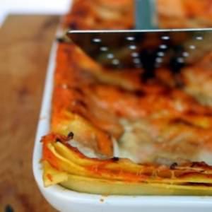 rapide à cuisiner Lasagnes potiron & mozzarella fumée recette de