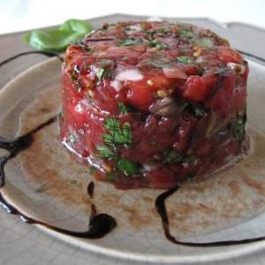 rapide Tartare de tomates préparation